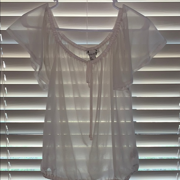 Forever 21 Tops - Sheer white blouse